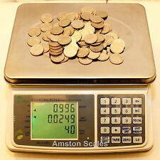 DIGITAL COUNTING PARTS COIN SCALE 66 x .002 LB 30 KG x 1 GRAM INVENTORY PAPER