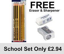 HB Pencils, STAEDTLER  6HB + FREE STAEDTLER ERASER +FREE METAL SHARPENER