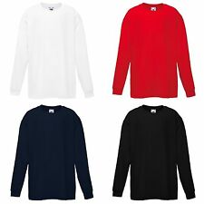 Fruit of the Loom Boys' Long Sleeve Sleeve 100% Cotton T-Shirts & Tops (2-16 Years)