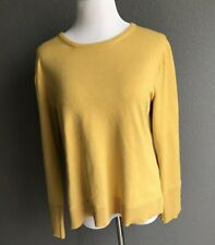 Premise Mustard Yellow Knit Top Sweater Women Large L/S Gold shirt