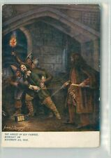 THE ARREST OF GUY FAWKES - MADAME TUSSAUD POSTCARD