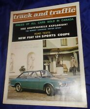 BG729 Vtg Fiat 124 Sports Coupe 1967 Road Test Report Canada Track & Traffic