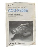 More details for sony handycam operating instruction manual booklet for ccd-f355e english genuine
