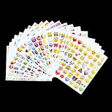 Funky Emoji Smiley Face Sticker 48 Sheet Apple iPhone Tablet Laptop Decoratings