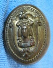 Rare Vintage Indian Brass Door Knob, Unknown, Aztec, Mexican, Native American