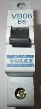 Volex VB06 6 Amp B6 Single Pole B Type MCB  Used