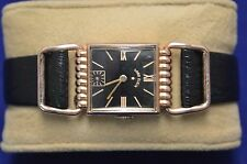 "1939 LORD ELGIN USA 21J ""DRIVER WATCH"" SWIVEL LUGS 14K GOLD FILLED ART DECO"