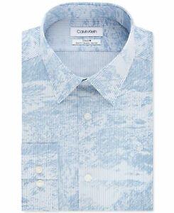 Calvin Klein Mens Dress Shirt Light Blue Frost Size 16 1/2  Button Down $79 315