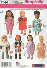 "Pattern Simplicity Sewing 18"" in Doll Clothes Summer 2014 Dress Top Shawl Shirt"