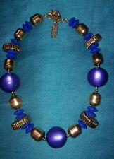 YSL YVES SAINT LAURENT BEAUTIFUL PURPLE BLUE LUCITE NECKLACE RARE.