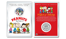 Peanuts CHRISTMAS TREE CAROLERS OFFICIAL JFK Half Dollar Coin in PREMIUM HOLDER