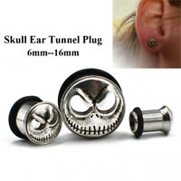 Ear Piercing Gauges Stainless Steel Skull Plugs Tunnel Body Jewelry Expander