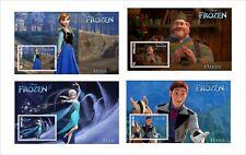 DISNEY FROZEN CHARACTERS 9 SOUVENIR SHEETS animation cartoons