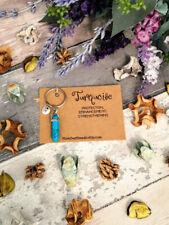 Turquoise keyring Crystal keyring Turquoise pendant Gemstone keyring Turquoise