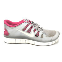 Nike Free 5.0 Running Shoes Womens Size 8.5 8 1/2 Gray Pink White Sneakers 58059