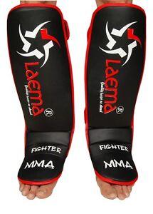 PRO Advance Gel Shin Instep Foot Pads MMA UFC Leg Kick Guards Muay Thai Boxing