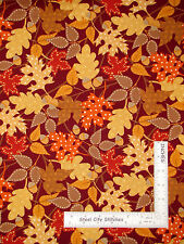 Autumn Leaves Acorn Leaf Toss Cotton Fabric Kanvas Studio Fall Festival - Yard