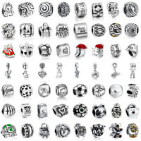 European Jewelry Pendant Charms Bead Fit Sterling 925 Silver Bracelets Necklace