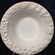 ANTICA FORNACE ITALY WHITE PASTA SOUP BOWL EMBOSSED PASTA DESIGN ON RIM