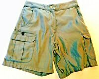 TITLE NINE Women's Gray Nylon Trail Cargo Shorts- Size 4- Retails $69