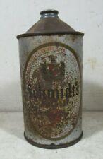 Vintage Schmidt's Beer 1 Quart Cone Top Can Silver Noggin Empty 32 Ounce