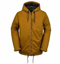 2016 NWT MENS VOLCOM PATCH INSULATED SNOWBOARD JACKET $227 L caramel zipper logo