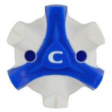 CHAMP Stinger Tri-Lok White/Blue Golf Cleats for Footjoy