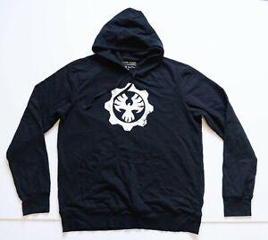 Gears of War Sweatshirt Men's XL Black Gaming Hoodie XBOX Microsoft Sweater