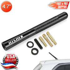 "Nismo Carbon Fiber Antenna Black Aluminum Short 4.7"" Inch For Nissan & Infiniti"