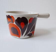 caquelon fondue le creuset orange en fonte design années 70 70's vintage deco