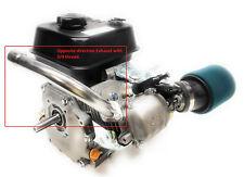 Opposite direction Exhaust for: Predator 212cc,Honda Gx160, Gx200, DuroMax 7 Hp