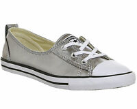 Womens Converse Ctas Ballet Lace SILVER CANVAS EXCLUSIVE Trainers Shoes