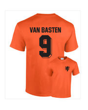 Marco Van Basten Holland Netherlands No.9 Mens Retro Football T-Shirt