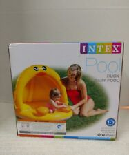 """Intex Pool Duck Baby Inflatable Baby Pool, 40"""" × 36 1/2"""", for Ages 1-3"""