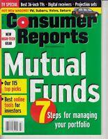 Consumer Reports Magazine March 2000 - Mutual Funds - VW Subaru Volvo Saturn