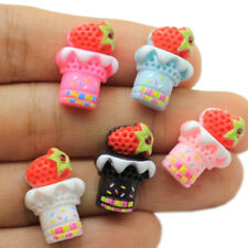 10pc/lot Cute Ice Cream Flat Back Resin Cabochons Scrapbooking DIY Jewelry Craft