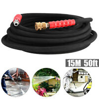 High Pressure Hot Water Hose 3//8 4200 PSI Double Wire Steel Braided 50 feet