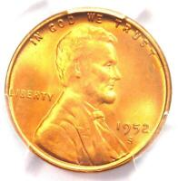 1952-S Lincoln Wheat Cent Penny 1C - PCGS MS67+ RD Plus Grade - $1,150 Value!