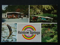 RAINBOW SPRINGS ROTORUA NZ SHOPS TROUT POOL LEAPING TROUT POSTCARD