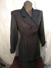 Vintage 2 Piece Women'S Black Skirt And Jacket Suit Set - Size 6