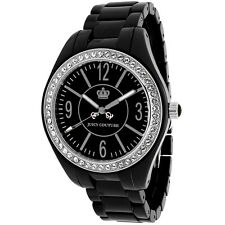 JUICY COUTURE - STAINLESS STEEL BLACK CERAMIC WATCH - 25,000+ F/BACK!