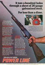 1976 Print Ad of Power Line Model 880 Air Rifle BB Pellet Gun