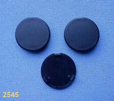 (2545) 3x rund Kappe für Motorabdeckung Motorhaube Kofferraum CLIPS schwarz 33mm