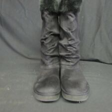 Skechers Australia Mid Calf Boots Womens 9 Black Winter Casual Faux Fur (J4)