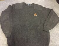 The Original Swanndri Wool Knit Sweater Mens Large  Black NewZealand -Pre Owned