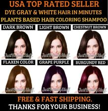 HAIR COLOR HERBAL SHAMPOO DYE GRAY HAIR FAST LAST UP TO 30 DAYS WOMEN&MEN