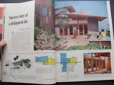 Mar 1954 Better Homes & Gardens Magazine Mid Century Modern High School Drinking