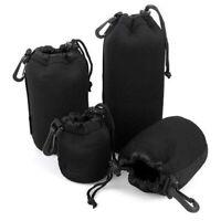Camera Lens Pouch DSLR Case Protector Neoprene Bag For Canon Nikon Sony DSLR