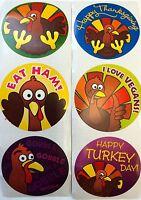 25 Fall Autumn Thanksgiving Turkey Stickers Party Favors Teacher Supply