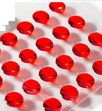 Pack of 64 Ruby Red Diamond 10mm Edible Jelly Cake Gems